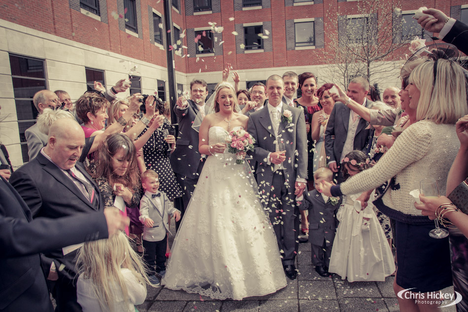 Wedding Confetti at Crowne Plaza Hotel Liverpool