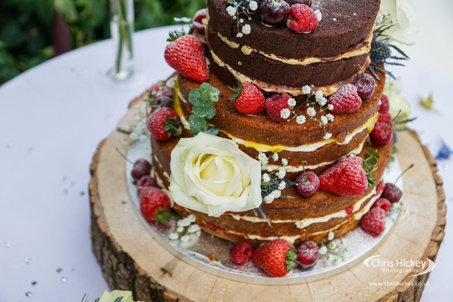 Wedding Cake at The Palm House, Sefton Park