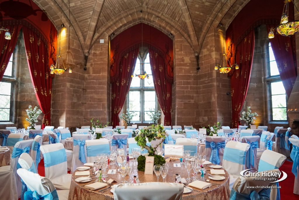 Castle wedding venue at Peckforton Castle in Cheshire